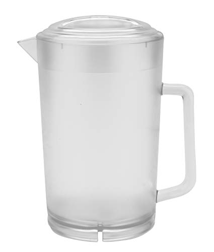 Plastic Pitcher with Lid, 64 Ounce