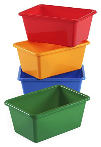 Humble Crew Kids' Small Storage Bins, Primary Colors Set of 4