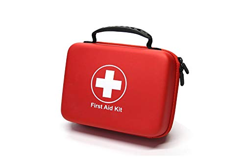 Compact First Aid Kit (228pcs) Waterproof EVA Case and Bag