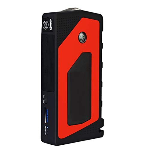 WPFC Jump Starter Multifunzione, 69800Mah 12V 4USB 600A Portable Car Battery Booster, Power Bank Starting Device,Yellow