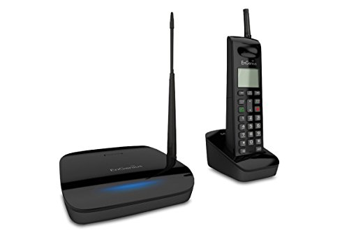 EnGenius FreeStyl 2, Long range, multi-handset capable, 900 MHz, phone with 2-way radio for broadcast or intercom
