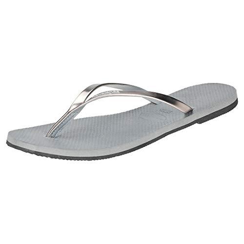 Havaianas You Metallic, Sandalias para Mujer, Plateado (Steel Grey), 37/38 EU