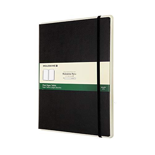 Moleskine, Smart Tablet de Papel, Cuaderno Digital con Páginas y Tapa Dura, Notebook Adecuado para Moleskine Pen+, Tamaño XL 19 x 25 cm, Color Negro, 176 Páginas