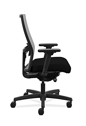 Product Image 7: HON Ignition 2.0 Mid-Back Adjustable Lumbar Work Fog Mesh Computer Chair for Office Desk (Black Fabric)