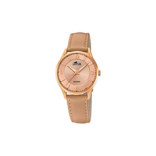 Lotus Damen Analog Quarz Uhr mit Leder Armband 18407/A