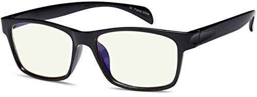 Gamma Ray Blue Light Blocking Computer Glasses TV Phones Screens Not Magnified 0.00