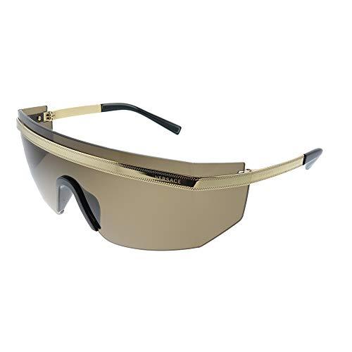 31EUqIehXaL Brand: Versace Model: VE2208 Style: Fashion Shield Temple/Frame Color: Gold - 1002/3G Lens Color: Light Brown Size: Lens-45 Bridge-00 Temple-115mm Gender: Women's Frame Material: Metal Bridge Design: Standard