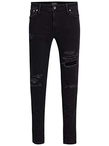 JACK & JONES Jjiliam Jjoriginal Am 502 Lid STS Jeans Skinny, Black Denim, 32W / 30L Uomo