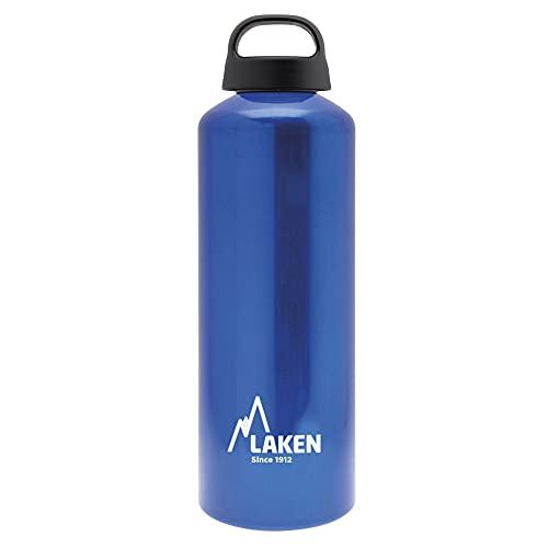 Laken 1L Azul Botella de Aluminio Classic (Boca Ancha), Unisex Adulto
