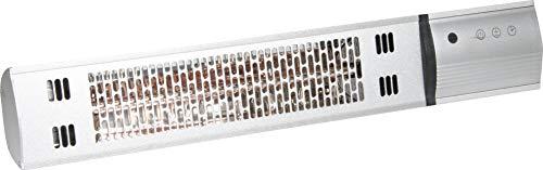 Einhell Elektro-Terrassenheizer IPH 1500 (max. 1500 W, 2 Heizstufen, Aluminium-Gehäuse, Timer, Fernbedienung, Wandmontage, für außen geeignet)