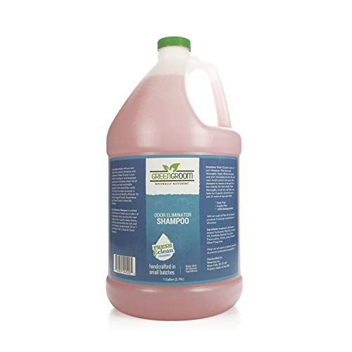 Green Groom Odor Eliminator Dog Shampoo, 1 Gallon - Crafted with Odortrol, All Natural Ingredients, Antioxidant Rich, Soap-Free and Cruelty-Free