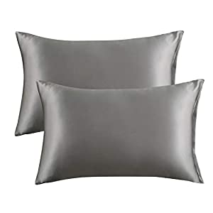 100% Polyester Satin: Satin pillow cover utilizes 100% polyester satin to provide resilient feel with a distinctive and lustrous appearance - High quality satin is more sturdy and durable than silk pillowcases, which need professional cares - Luxury ...