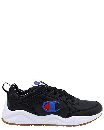 Champion Men's 93Eighteen Black Ankle-High Leather Sneaker - 9M