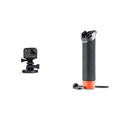 GoPro Suction Cup+ Fissaggio per GoPro, Nero/Antracite & Impugnatura Galleggiante - Nero
