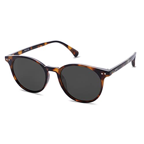 SOJOS Small Round Classic Polarized Sunglasses for Women Men Vintage Style UV400 Lens MAY SJ2113...
