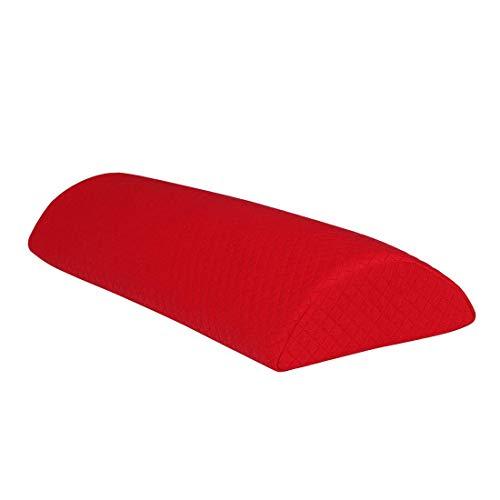 Cuscino a mezzaluna in memory foam, per letto, schiena, collo, gambe e ginocchia, lavabile, colore: rosso