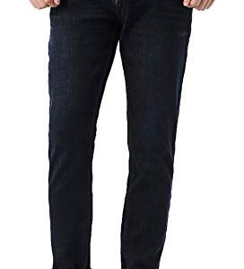 PlaidPlain-Mens-Flannel-Lined-Jeans-Mens-Slim-Fit-Tapered-Fleece-Lined-Jeans