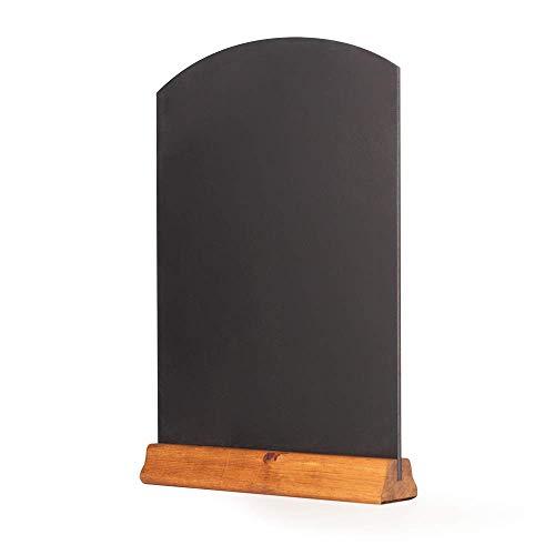 Chalkboards UK Tavolo da Lavagna con piedistallo, Legno, Rovere Scuro, 42x 30x 4cm