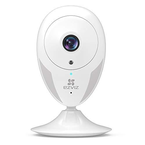 EZVIZ telecamera da interno ip camera WiFi 1080P videocamera di sorveglianza interno visione notturna avviso movimento audio ad due vie grandangolare app mobile compatibile con Alexa modello CTQ2C