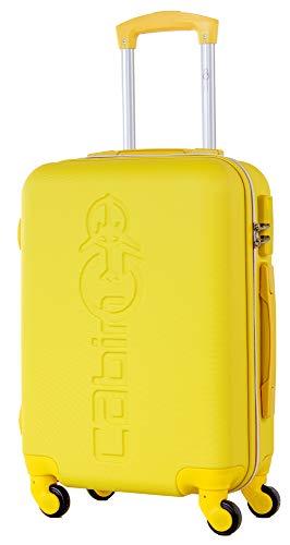 CABIN GO 5585 Valigia Trolley rigido in ABS grande valigia con ruote, Idoneo Ryanair e Easyjet...