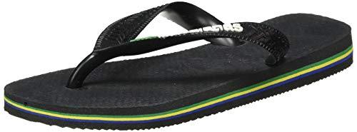 Havaianas Brasil Logo 4110850, Infradito Unisex Adulto, Nero (Black Preto), 41/42 EU