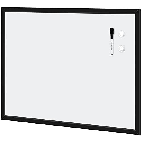 AmazonBasics Magnetic Framed Dry Erase White Board, 23 x 35 Inch