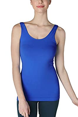 ALL-PURPOSE WEAR - Our classic tank top is the premium version of a daily basic essential and a valuable addition to any wardrobe. Can be worn alone on a warm day, under a sheer blouse at the office, or as a base layer during winter. Also great for l...
