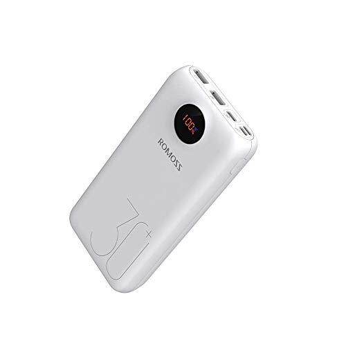 Romoss 18W Power Bank 26800mAh Quick Charge 3.0, Caricatore Portatile Tipo-C PD con 3 Uscite e 3 Ingressi. Compatibile con Tutti i Telefoni e Tablet