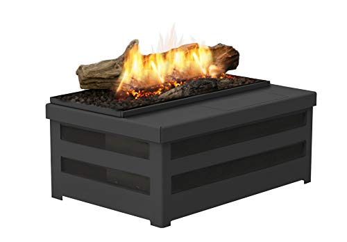 Planika Basket Fire Logs Mini - Compact Bioethanol Traditional Fireplace Insert with Remote Control