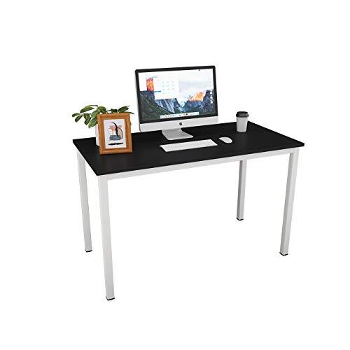 Need Scrivanie 120x60cm Ufficio Postazioni di Lavoro per Computer Scrivania PC Tavolo da Pranzo in Legno Scrivania (Nero & Bianco) AC3CW-120