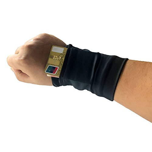 wjieyou Wrist Wallet, Zipper Wristband Sweat Band Sports Wrist Wallet Key Money Card Coin Pocket Storage Bag For Running Cycling And Other Sports