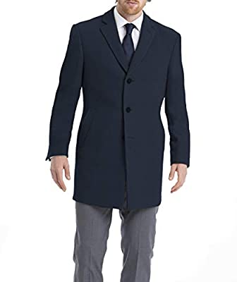 Satin lined with an interior utility pocket Fleece lined slanted exterior pockets for easy access and extra warmth Convertible collar with vegan leather undercollar Wear casually, or over a suit The appropriate coat for any chilly occasion