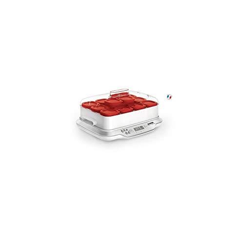 Seb Yaourtière Multidélices Express 12 Pots Rouge Yaourt Maison 5 Programmes AutomatiquesDesserts Lactés Fromages Blancs Desserts Moelleux Pots de 140ml 100% sans BPA YG661500