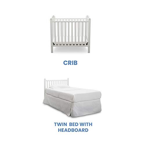 Product Image 4: Delta Children Emery Mini Convertible Baby Crib with 2.75-inch Mattress, Bianca White