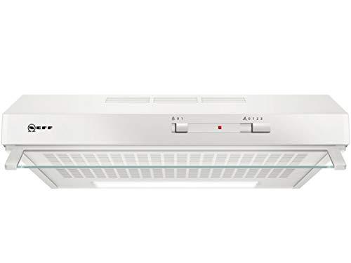 Neff D60LAA0W1 - Cappa da incasso N30, 60 cm, per scarico o ricircolo, efficienza energetica D, colore: Bianco
