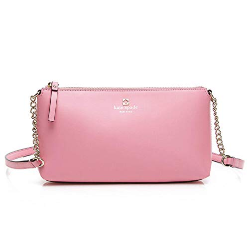Made of smooth leather crossbody bag with zip top closure interior zip and slide pockets