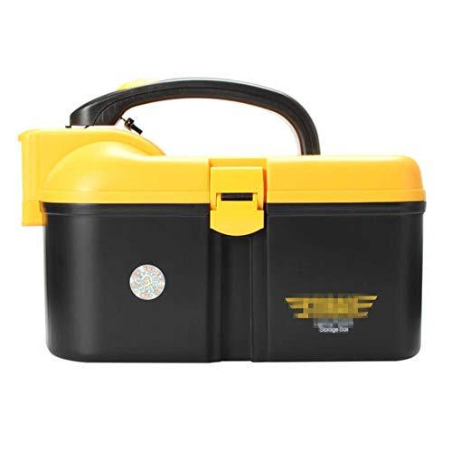 Cassetta portautensili multifunzione PP per attrezzi da pesca con illuminazione a LED Eco Friendly e scatole di stoccaggio per attrezzi e piccole parti (dimensioni: L; colore: nero)