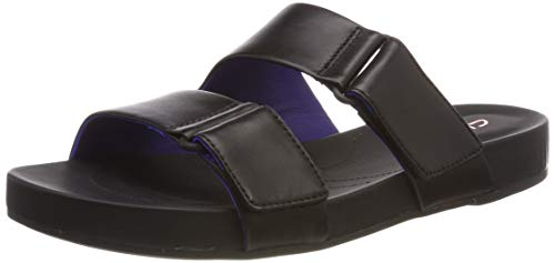 Clarks Bright Deja, Mules Mujer, Negro (Black Leather-), 38 EU