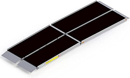 EZ-Access Suitcase Trifold Portable Ramp with an Applied Slip-Resistant Surface, 8 Foot