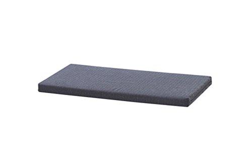 INWONA IKEA Kallax Regal Sitzauflage 76 x 39 x 4 cm Sitzpolster Sitzbank-Auflage Sitzkissen/Auflage für Sideboard als Sitzbank/unempfindlicher Bezug/Farbe GRAU ANTHRAZIT