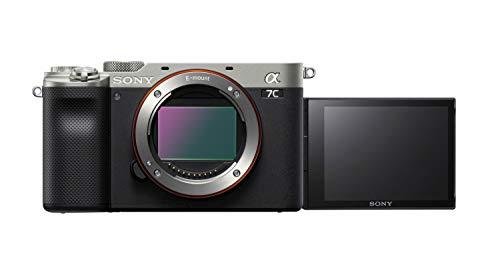 Sony Alpha 7C Spiegellose E-Mount Vollformat-Digitalkamera ILCE-7C (24,2 MP, 7,5cm (3 Zoll) Touch-Display, Echtzeit-AF, 5-Achsen Bildstabilisierung) Nur Body - Silber/Schwarz