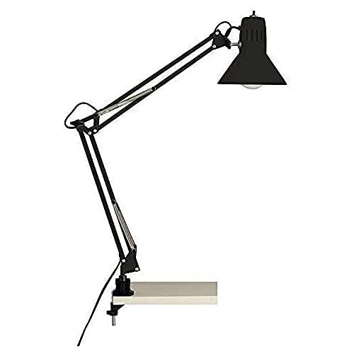 Brilliant Hobby 10802/06 - Lámpara de escritorio Flexo con soporte de pinza, color negro
