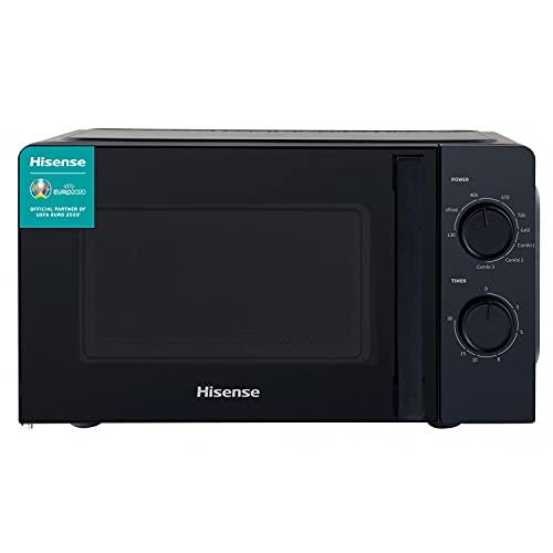 Hisense H20MOBS1HG Forno Microonde Meccanico, Capacit 20 L, Potenza 700 W, Grill Potenza 900 W, Nero