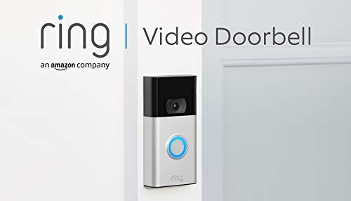 Ring Video Doorbell von Amazon   1080p HD-Video Türklingel, fortschrittliche Bewegungserfassung und einfache Installation (2. Gen.)   Mit 30-tägigem Testzeitraum für Ring Protect