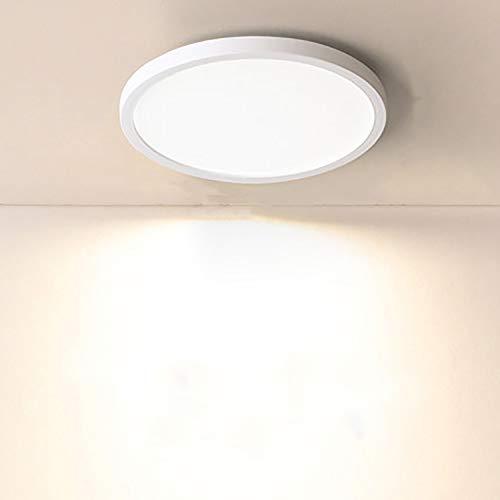 Yafido LED Plafoniera 18W Ultra Magro UFO Pannello LED Tonda Bianco Caldo 3000K 1620LM Lampada da Soffitto per Soggiorno Camera da letto Bagno Cucina Corridoio e Balcone 18cm