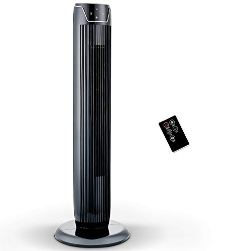 PELONIS Fan, Oscillating Tower Fan with LED Display, Remote Control, 3 Quiet Speeds and Modes, 7h Programmed Timer for Home and Office, 36-Inch, 2019 New Model