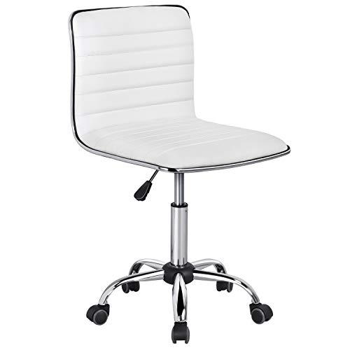 Yaheetech Adjustable Task Chair PU Leather...