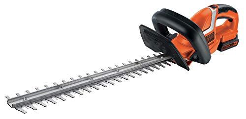 Black+Decker Akku Heckenschere (mit E-Drive Technologie zum Schneiden harter und dicker Äste sowie mittlerer bis großer Hecken – 18mm Schnittstärke – 18V – 2,6kg leicht) GTC1845L20