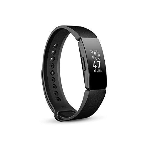 Fitbit Inspire Gesundheits- & Fitness Tracker mit automatischer Trainings Erkennung, 5 Tage Akkulaufzeit, Schlaf- & Schwimm-Tracking, Schwarz