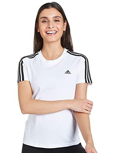 adidas GL0783 W 3S T T-Shirt Donna White/Black S